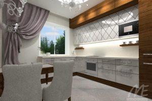 Puošnaus dizaino virtuvė